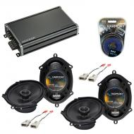 Compatible with Ford Econoline Full Size Van 92-96 Speaker Replacement Harmony (2)R68 & CXA36...