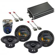 Compatible with Isuzu Oasis 1996-1999 Factory Speaker Replacement Harmony (2) R65 & CXA360.4 Amp