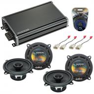 Compatible with Lexus IS 300 2001-2005 Factory Speaker Replacement Harmony (2) R5 & CXA360.4 Amp