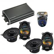 Compatible with Porsche 944 1983-1993 Factory Speaker Replacement Harmony (2) R46 & CXA360.4 Amp