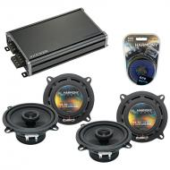 Compatible with Kia Sportage 2005-2010 Factory Speaker Replacement Harmony (2) R5 & CXA360.4