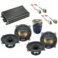 Compatible with Ford Aspire 1995-1997 Factory Speaker Replacement Harmony (2) R5 & CXA360.4 Amp