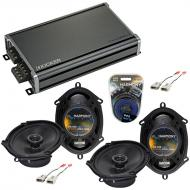 Compatible with Ford F-150 1997-2003 Factory Speaker Replacement Harmony (2) R68 & CXA360.4 Amp