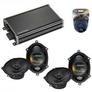 Compatible with Ford Focus 2008-2011 Factory Speaker Replacement Harmony (2) R68 & CXA360.4 Amp