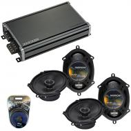 Compatible with Lincoln LS 2000-2006 Factory Speaker Replacement Harmony (2) R68 & CXA360.4 Amp