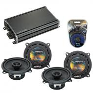 Compatible with Porsche 911 1998-2004 Factory Speaker Replacement Harmony (2) R5 & CXA360.4 Amp