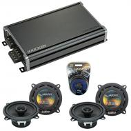 Compatible with Porsche 911 2005-2011 Factory Speaker Replacement Harmony (2) R5 & CXA360.4 Amp