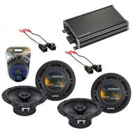 Compatible with Saturn ION 2003-2005 Factory Speaker Replacement Harmony (2) R65 & CXA360.4 Amp