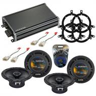 Compatible with Toyota Corolla 2001-2002 Factory Speaker Replacement Harmony (2) R65 & CXA360...