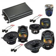 Compatible with Buick Regal 1988-1994 OEM Speaker Replacement Harmony Speakers & CXA360.4 Amp...