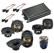 Compatible with Buick Regal 1995-2004 OEM Speaker Replacement Harmony Speakers & CXA360.4 Amp...
