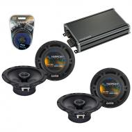 Compatible with Mercedes SLK-Class 05-11 OEM Speaker Replacement Harmony (2) R65 & CXA360.4 Amp