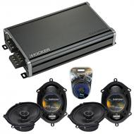 Compatible with Mercury Cougar 1999-2002 OEM Speaker Replacement Harmony (2) R68 & CXA360.4 Amp