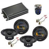 Compatible with Chevy Aveo 2004-2006 Factory Speaker Replacement Harmony (2) R65 & CXA360.4 Amp