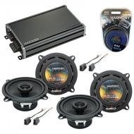 Compatible with Toyota Land Cruiser 1982-1987 OEM Speaker Replacement Harmony (2) R5 & CXA360...