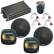 Compatible with Chevy Corvette 1984-1989 Factory Speakers Replacement Harmony (2) C4 & CXA360.4