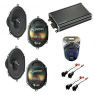 Compatible with Ford Edge 2007-2010 Factory Speakers Replacement Harmony (2) C68 & CXA360.4
