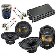 Compatible with Nissan Pathfinder 1987-1993 Speaker Replacement Harmony Speakers & CXA360.4 Amp
