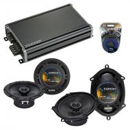 Compatible with Audi A4 1996-2008 Factory Speaker Replacement Harmony R5 R65 & CXA360.4 Amp