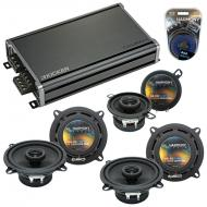 Compatible with Lexus GX470 03-08 OEM Speaker Replacement Harmony (2) R5 R35 & CXA360.4 Amp