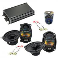 Compatible with Buick Le Sabre 1984-1987 OEM Speaker Replacement Harmony R46 R69 & CXA360.4 Amp