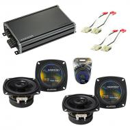 Compatible with Chevy Corvette 1984-1989 Factory Speaker Replacement Harmony (2) R4 & CXA360....