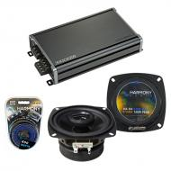 Compatible with Dodge Sprinter 2003-2009 Factory Speaker Replacement Harmony R4 & CXA360.4 Amp