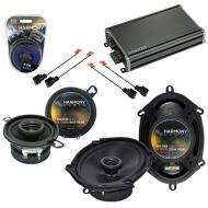 Compatible with Dodge Van (Full Size) 1990-1997 Speaker Replacement Harmony R68 R35 & CXA360....