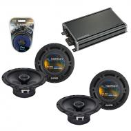 Compatible with Saab 9-2x 2005-2005 Factory Speaker Replacement Harmony (2) R65 & CXA360.4 Amp