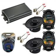 Compatible with Volkswagen Dasher 76-81 Factory Speaker Replacement Harmony (2) R46 & CXA360....