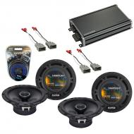 Compatible with Honda Element 2003-2011 OEM Speaker Replacement Harmony (2) R65 & CXA360.4 Amp