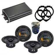 Compatible with Chevy Express 2008-2017 OEM Speaker Replacement Harmony (2) R65 & CXA360.4 Amp