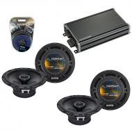 Compatible with Nissan Pathfinder 1996-2012 Speaker Replacement Harmony (2) R65 & CXA360.4 Amp