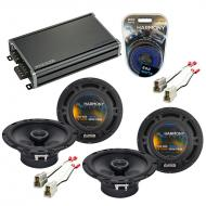 Compatible with Subaru GL, DL, RX 1985-1989 Speaker Replacement Harmony (2) R65 & CXA360.4 Amp