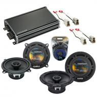 Compatible with Subaru GL/DL Hatchback 1981-1989 OEM Speaker Replacement R5 R65 & CXA360.4 Amp