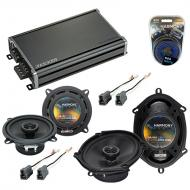 Compatible with Toyota Cressida: Luxury 82-84 OEM Speaker Replacement Harmony Speakers & CXA3...