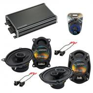 Compatible with Chevy Corsica 1991-1996 OEM Speaker Replacement Harmony R46 R69 & CXA360.4 Amp