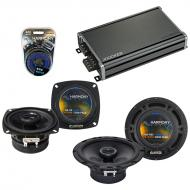 Compatible with Honda CRX 1984-1985 Factory Speaker Replacement Harmony R4 R65 & CXA360.4 Amp