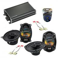 Compatible with Chevy S-10 Blazer 82-89 OEM Speaker Replacement Harmony R46 R69 & CXA360.4 Amp