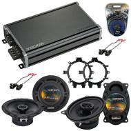 Compatible with Chevy Silverado Pickup 99-06 Speaker Replacement Harmony R5 R46 & CXA360.4 Amp