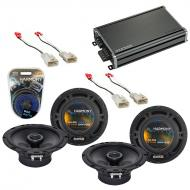 Compatible with Scion xD 2008-2015 Factory Speaker Replacement Harmony (2) R65 & CXA360.4 Amp