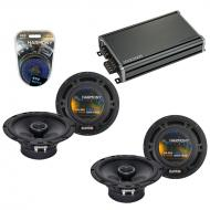 Compatible with Smart Fortwo 2008-2010 Factory Speaker Replacement Harmony R65 & CXA360.4 Amp
