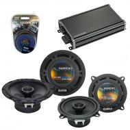 Compatible with Volvo V40 2000-2003 Factory Speaker Replacement Harmony R5 R65 & CXA360.4 Amp