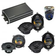 Compatible with Jaguar S-type 2000-2008 OEM Speaker Replacement Harmony (2) R68 R5 & CXA360.4...