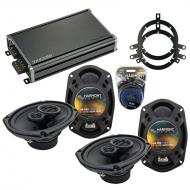 Compatible with Jeep Liberty 2008-2013 OEM Speaker Replacement Harmony (2) R69 & CXA360.4 Amp
