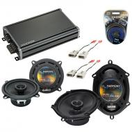 Compatible with Mercury Topaz 1989-1994 OEM Speaker Replacement Harmony R5 R68 & CXA360.4 Amp