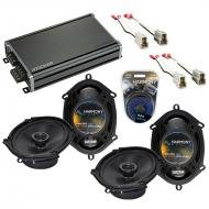 Compatible with Mercury Villager 93-95 OEM Speaker Replacement Harmony (2) R68 & CXA360.4 Amp