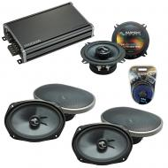 Compatible with Dodge Grand Caravan 08-17 Speakers Replacement Harmony (2) C69 & CXA360.4 Amp