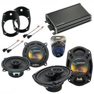 Compatible with Dodge Ram 2500/3500 03-05 Speaker Replacement Harmony Speakers & CXA360.4 Amp