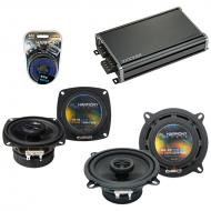 Compatible with Hyundai Scoupe 1991-1995 Speaker Replacement Harmony R4 R5 & CXA360.4 Amp